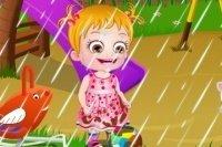 Baby Hazel im Regen 2