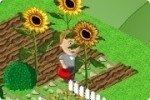 Blumengarten gießen