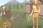 Cowgirl ankleiden