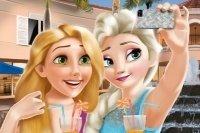 Elsa und Rapunzel Selfie