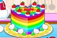 Farbenfroher Kuchen