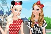 Frozen Schwestern im Disneyland