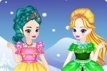 Junge Elsa und Anna