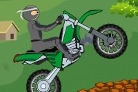 Ninja auf dem Motorrad
