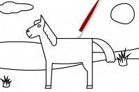 Pferd ausmalen