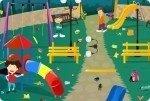 Spielplatz aufräumen