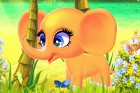 Fröhlicher Elefant