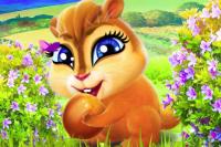 Fröhliches Eichhörnchen