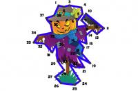 Halloween Linien-Puzzle